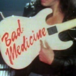 "Still from Bon Jovi's ""Bad Medicine"" video"